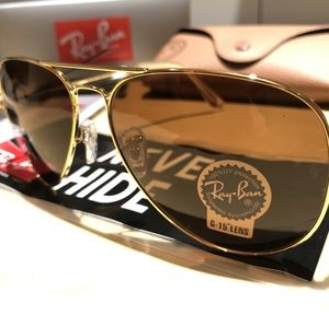 Ray Ban Aviator Classic RB3025 Brown / Gold